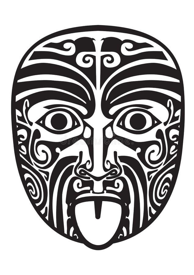 毛利人屏蔽 向量例证