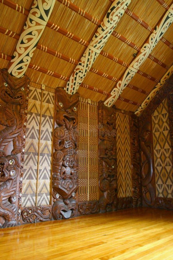 毛利人的雕刻 库存图片