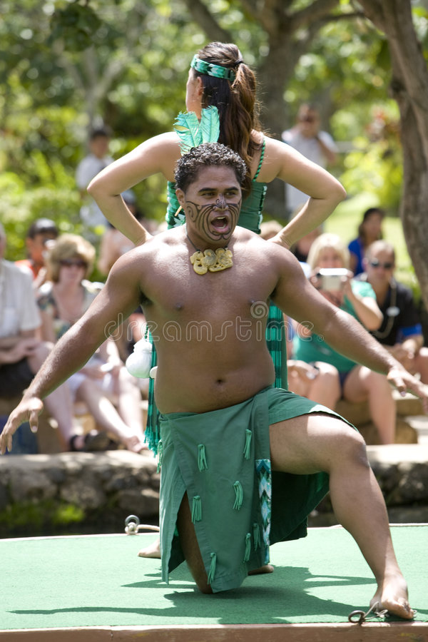 毛利人1544个的舞蹈演员 图库摄影