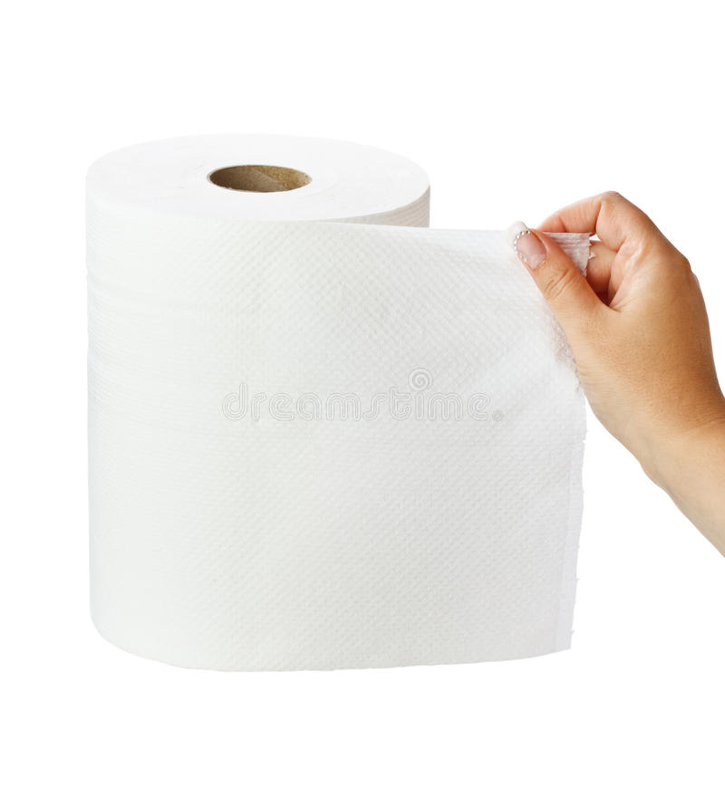 毛巾纸卷 库存图片