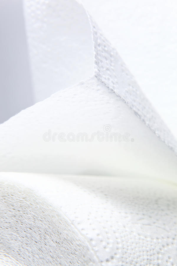 毛巾纸白色 免版税库存图片