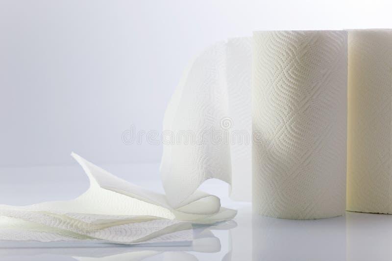毛巾纸白色 库存照片