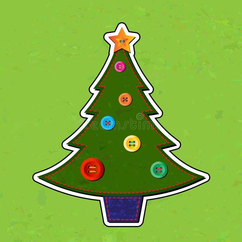 毛毡圣诞树 皇族释放例证