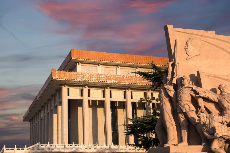 毛泽东,天安门广场,北京,中国陵墓  图库摄影