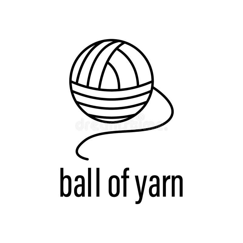 毛线象球  原料的元素有描述象的流动概念和网应用程序的 毛线象概述球可以是 向量例证