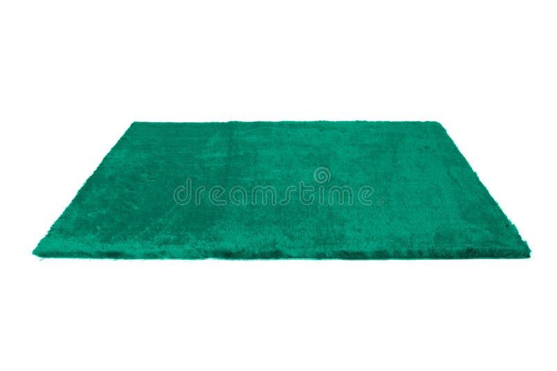 毛茸的地毯 查出在白色 库存照片