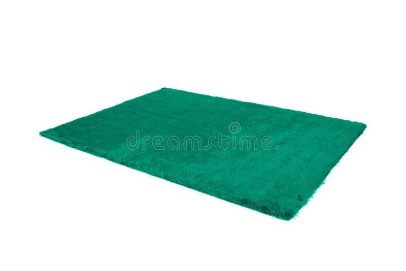 毛茸的地毯 查出在白色 库存图片