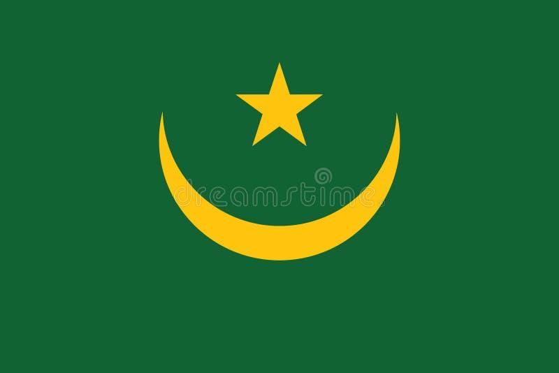 毛里塔尼亚传染媒介例证旗子  向量例证