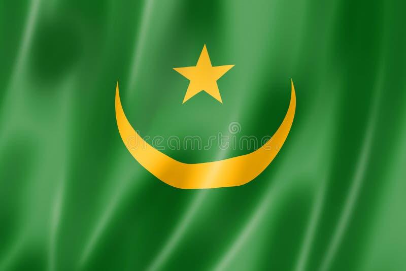 毛里塔尼亚旗子 向量例证