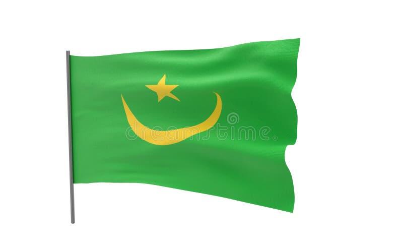 毛里塔尼亚的旗子 皇族释放例证