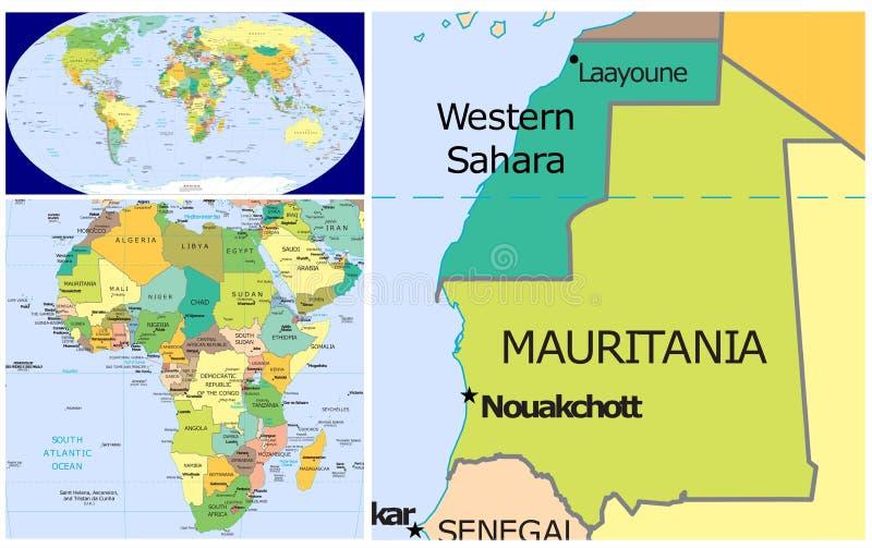 毛里塔尼亚&世界 皇族释放例证