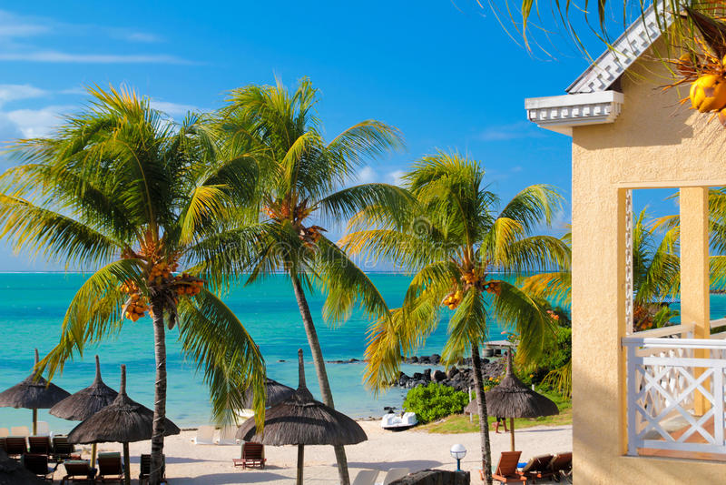 毛里求斯海洋场面 免版税库存照片
