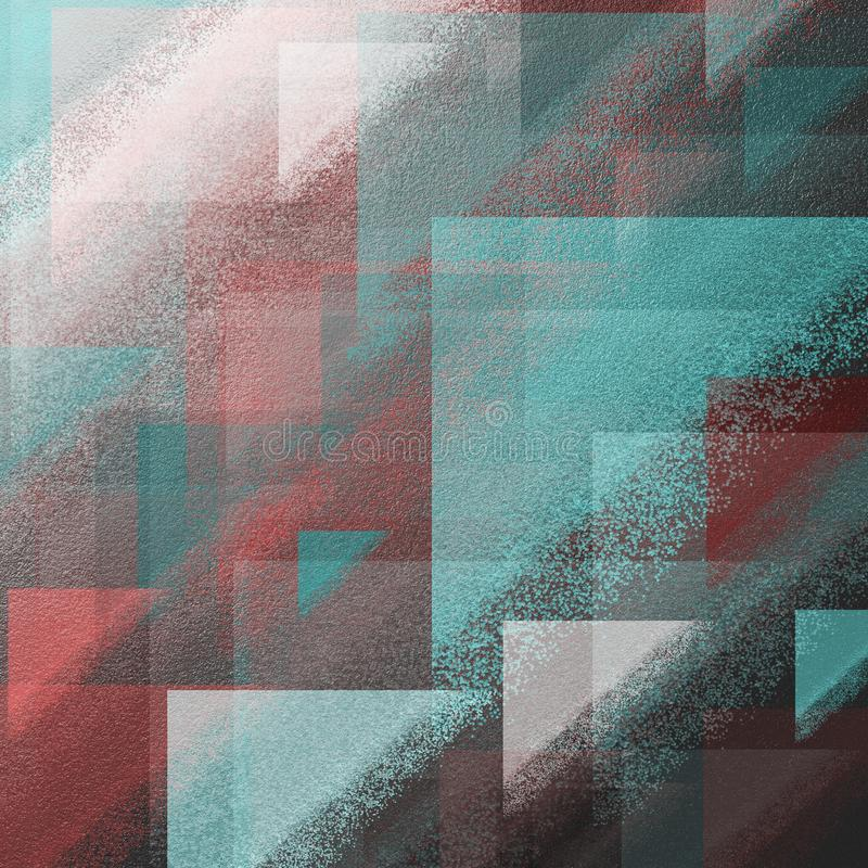 毛面上的抽象难看的东西刷子冲程 与厚实的颜色斑点的脏的表面背景 毛面补丁工作 免版税库存图片