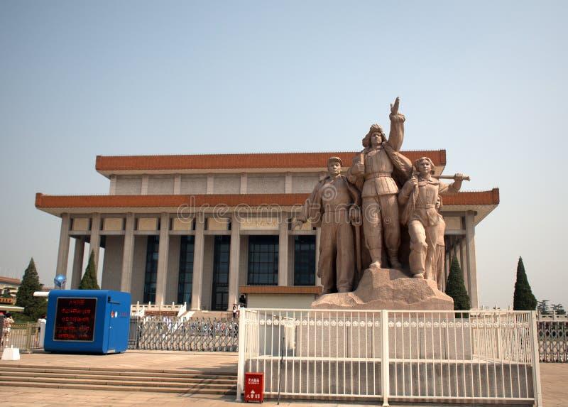 毛主席,北京,中国陵墓  库存图片