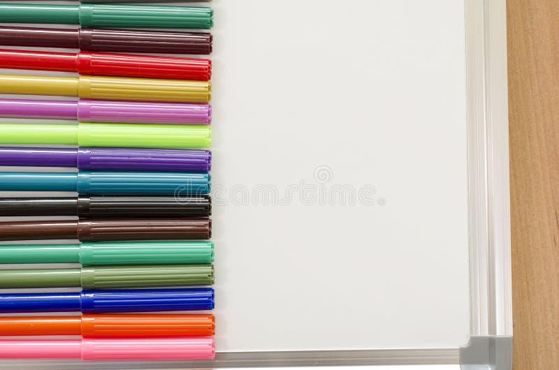 毡尖的笔和whiteboard 免版税库存图片