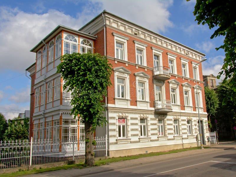 毫华新新生大厦在利耶帕亚,拉脱维亚 免版税库存照片