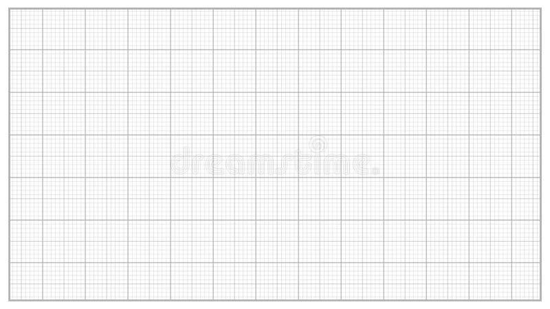 毫米纸传染媒介 灰色 设计的,教育,画的项目座标图纸 图表栅格纸措施 库存例证