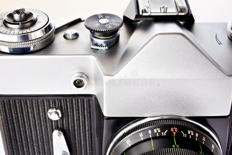 35毫米SLR复古相机 免版税图库摄影