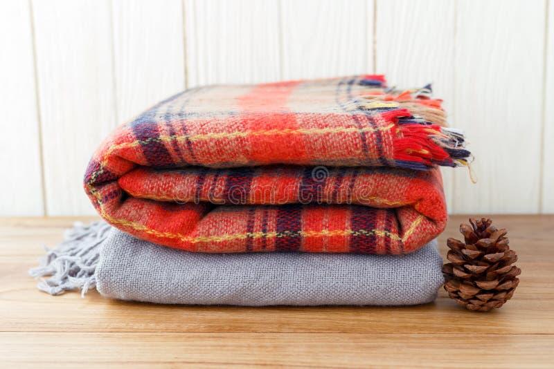 毯子和scarft为冬天 图库摄影
