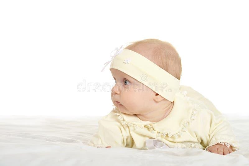 毯子的可爱的女婴 库存照片