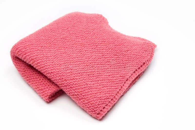 毯子被编织的粉红色 免版税图库摄影