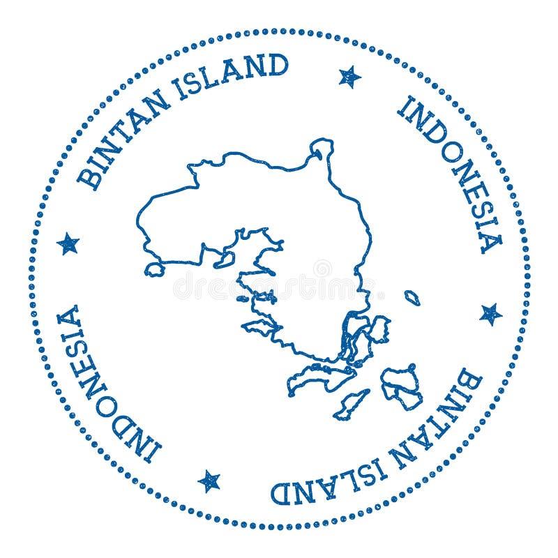 民丹岛地图贴纸 库存例证