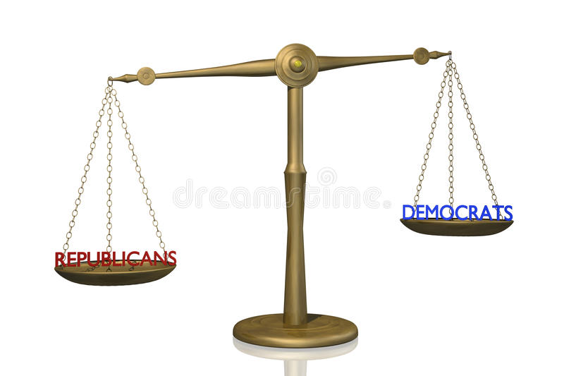 民主人士共和党人 向量例证