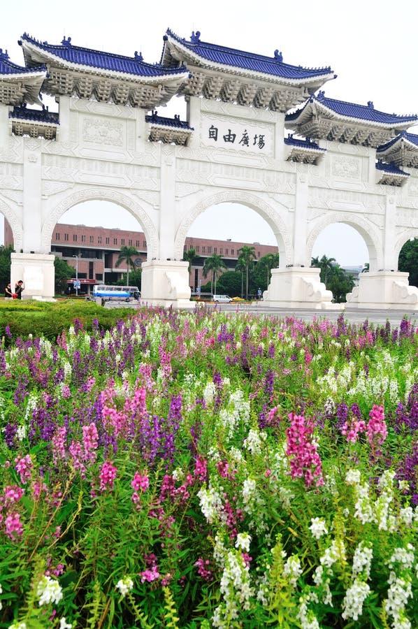 民主大厅纪念国家台湾 免版税库存图片