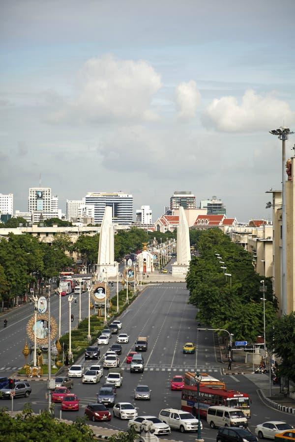 民主纪念碑在曼谷,泰国 免版税库存图片