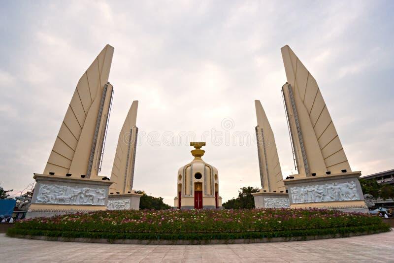 民主纪念碑曼谷,泰国。 免版税库存照片