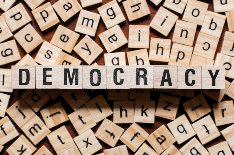 民主词概念 库存图片