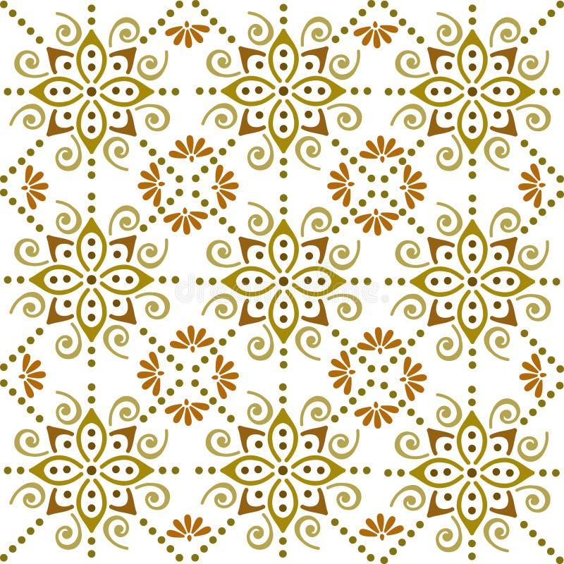 民俗的蜡染布装饰品 向量例证