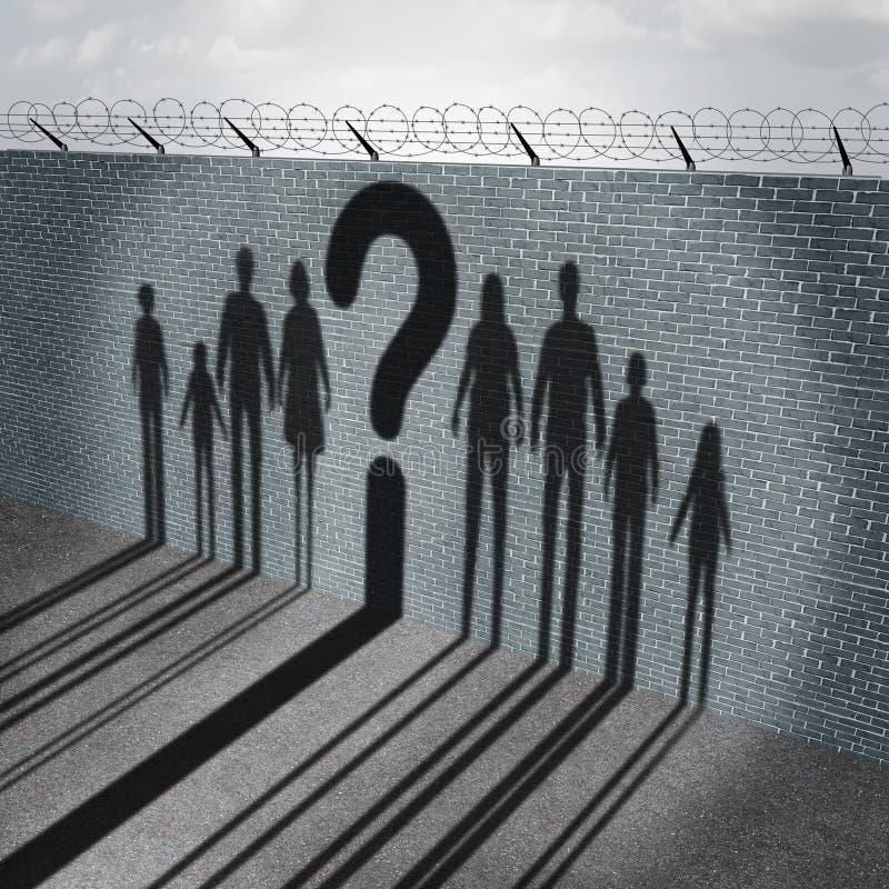 移民危机 库存例证