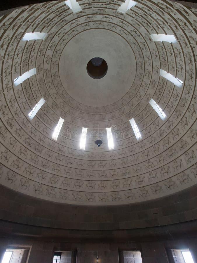 民族大会战纪念碑的内部,莱比锡 免版税库存图片