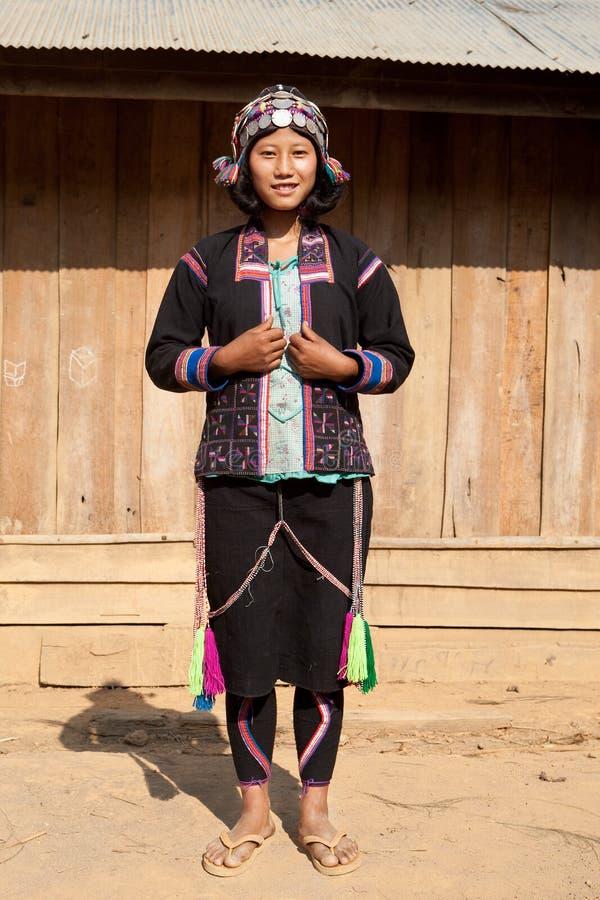 民族老挝纵向筒仓 免版税库存图片