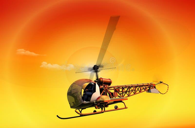 民用直升机 向量例证