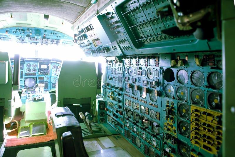 民用飞机的客舱 免版税库存图片