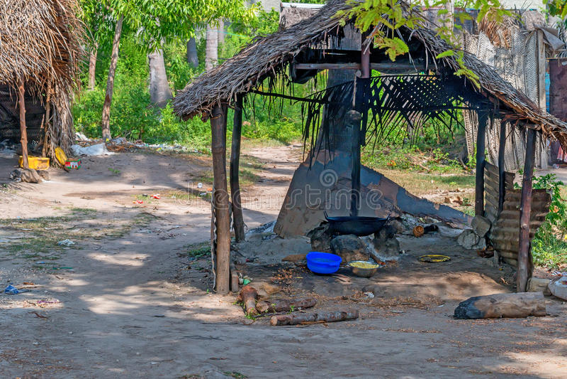 贫民窟在桑给巴尔 库存照片
