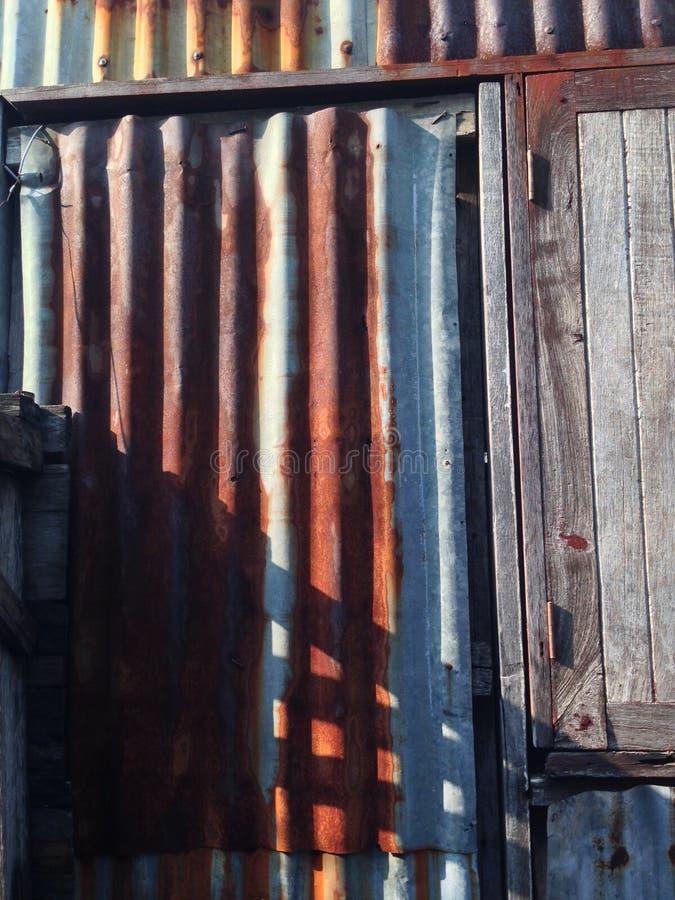贫民窟墙壁 免版税库存照片