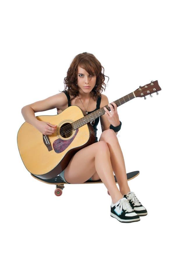 民间严重的歌唱家 免版税库存照片