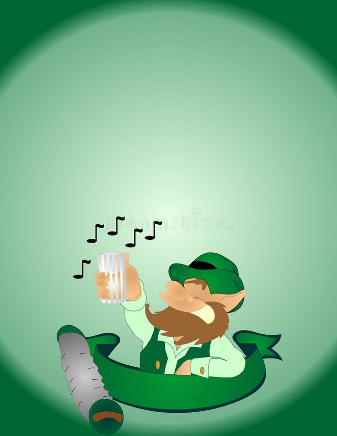 民间爱尔兰幸运人唱歌曲 皇族释放例证