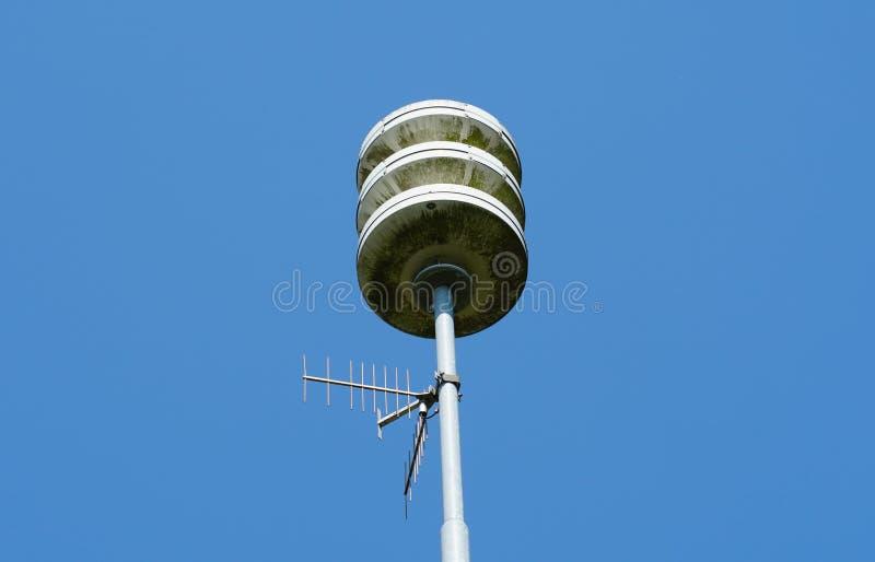 民防警报器设施在荷兰 图库摄影
