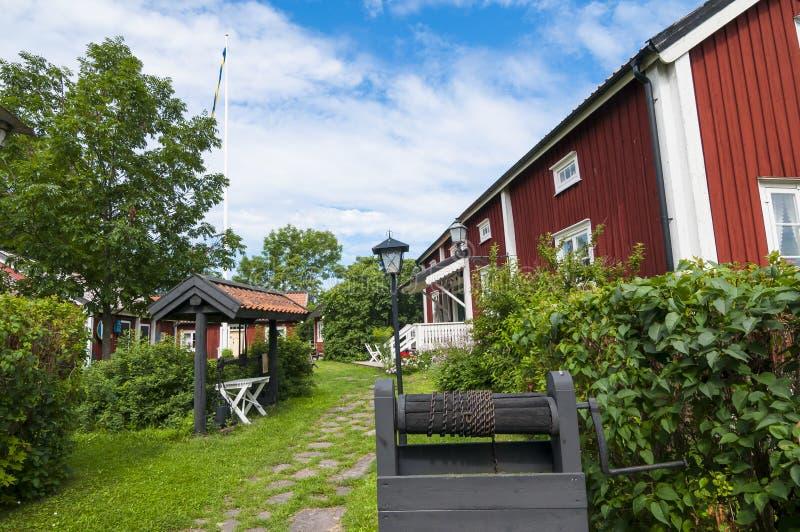 民间传说和海博物馆Oregrund瑞典 库存图片