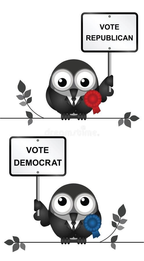 民主党和共和党政客 向量例证