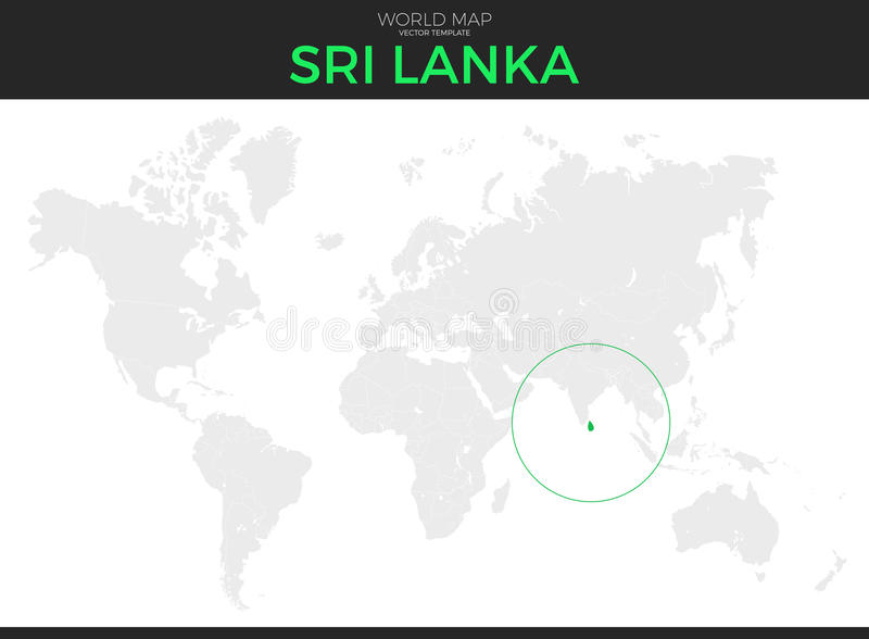 民主党社会主义斯里兰卡共和国定位图 向量例证