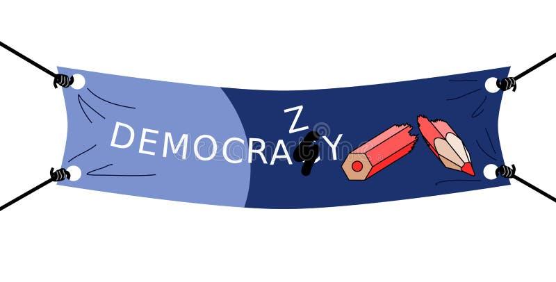 民主或democrazy 库存例证