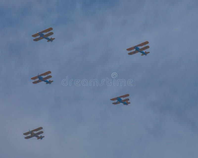 民主武库 --双翼飞机 图库摄影