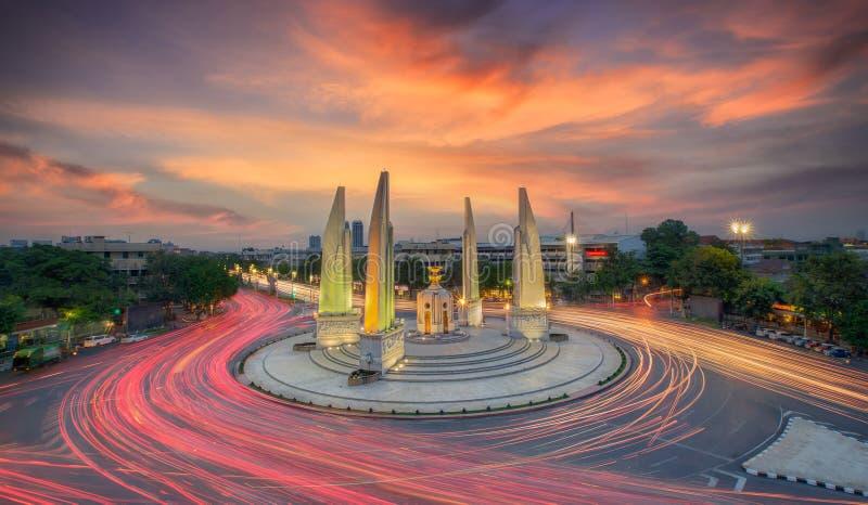 民主纪念碑的片刻 免版税图库摄影