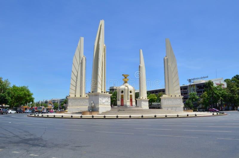 民主纪念碑,曼谷,泰国, 2015年 免版税库存照片