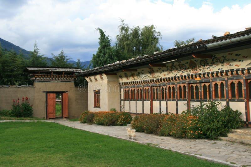民间遗产博物馆-廷布-不丹 免版税库存图片